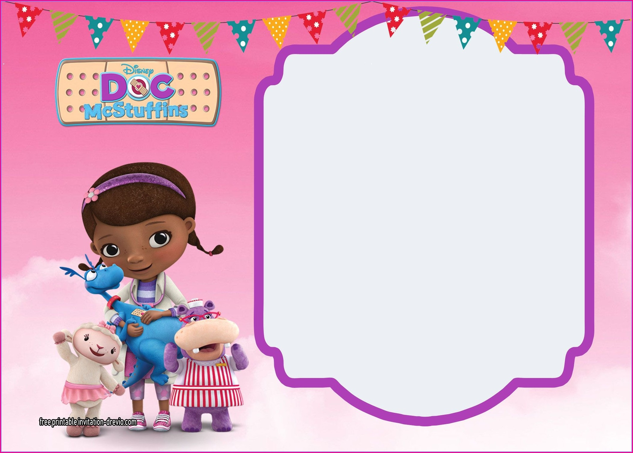 Doc Mcstuffins Invitations Personalized
