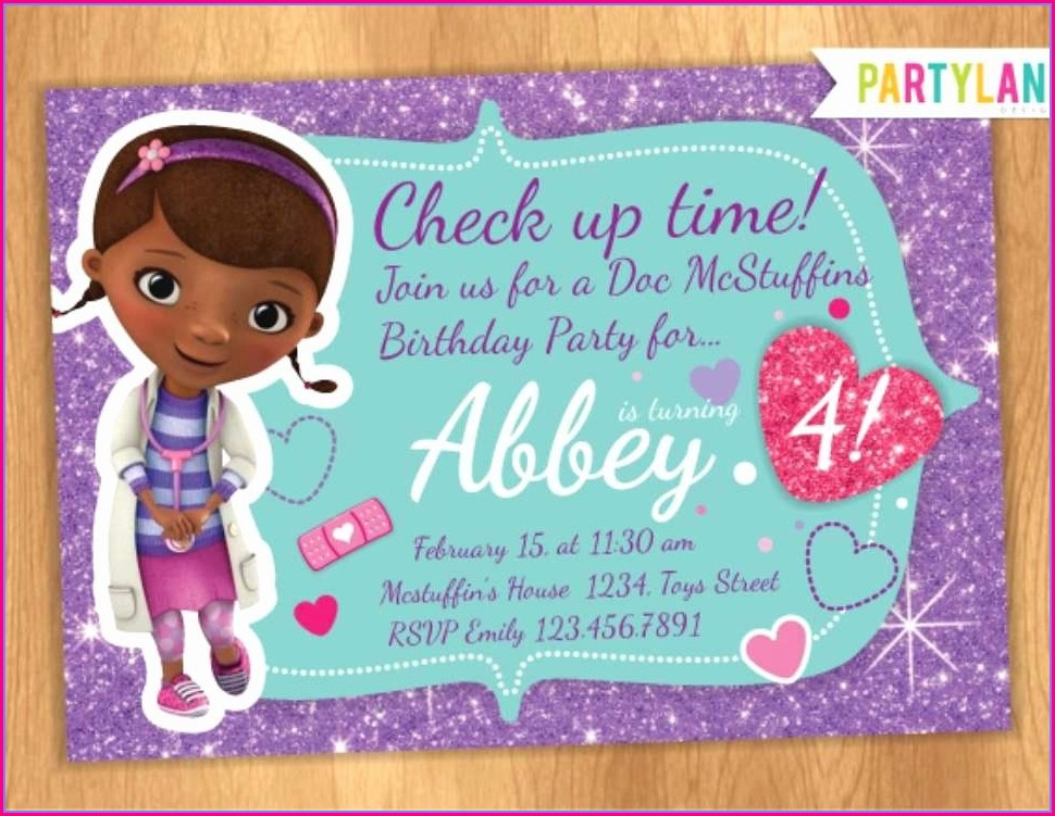 Doc Mcstuffins Invitations Template
