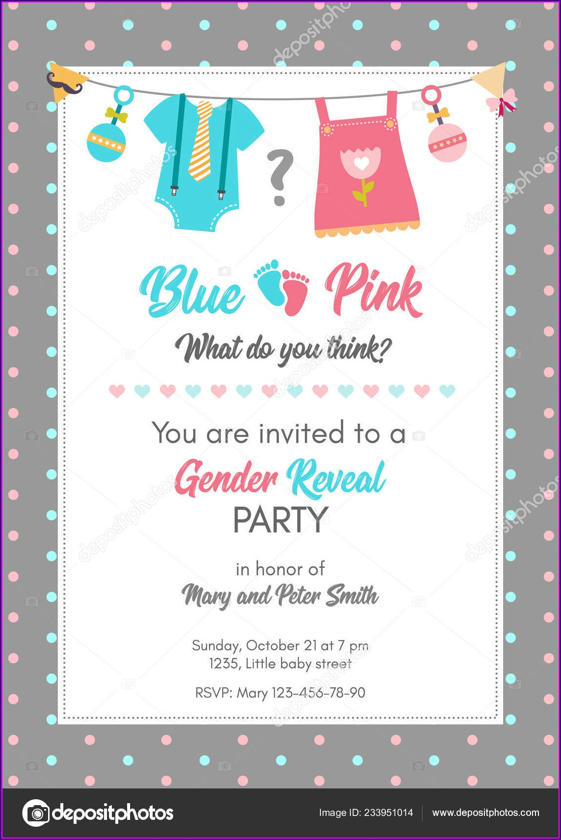 Downloadable Gender Reveal Invitation Template