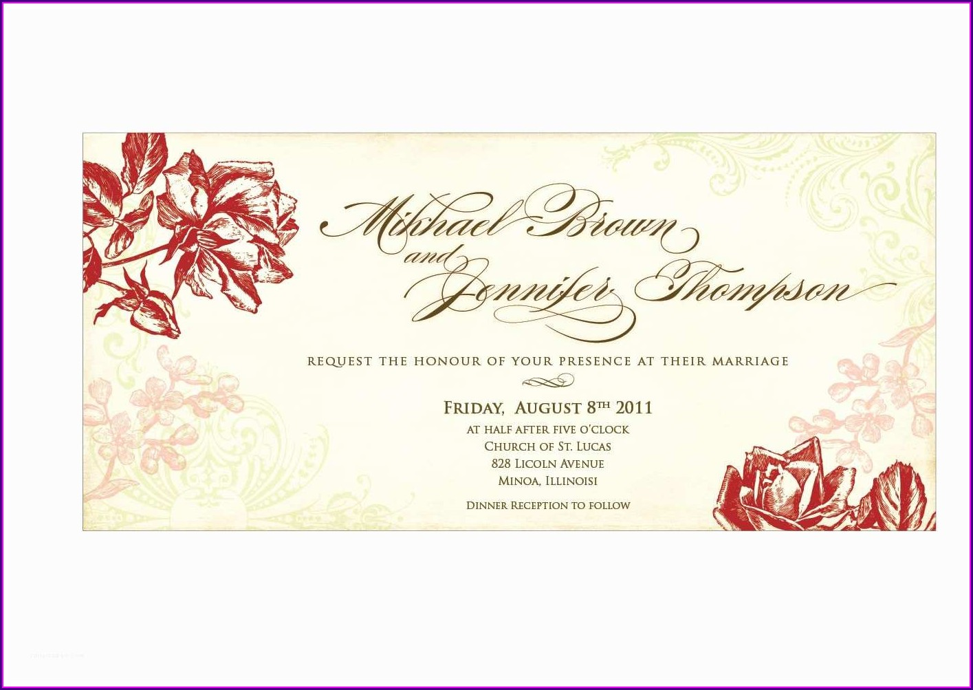Editable Free Online Invitation Card Design
