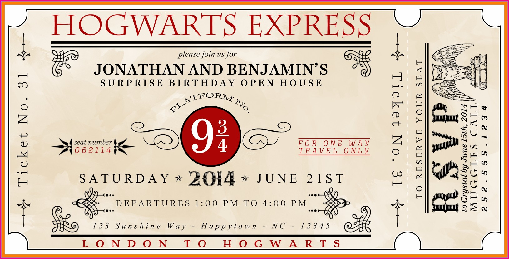 Editable Harry Potter Birthday Invitation Template