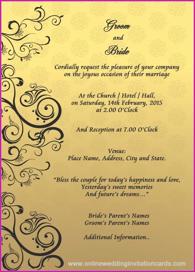Editable Hindu Wedding Invitation Card Template