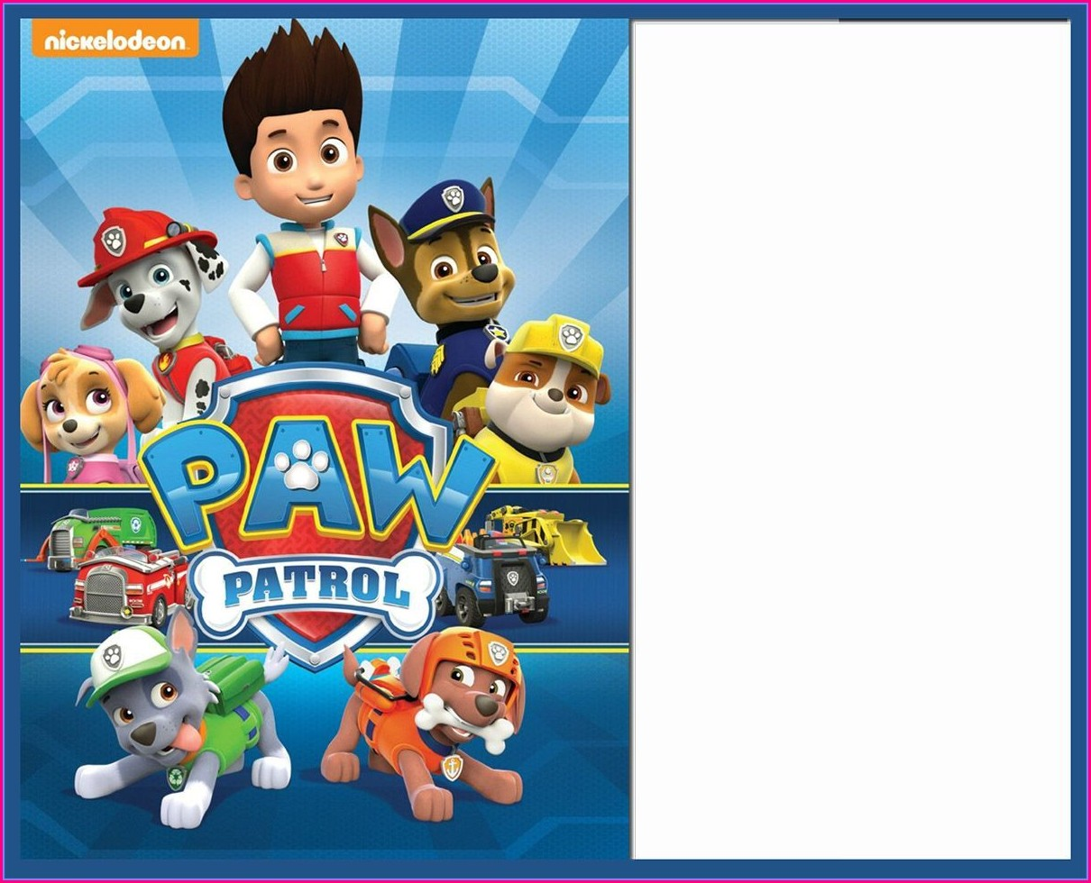 Editable Paw Patrol Birthday Invitation Template Free