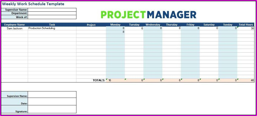 Employee Shift Schedule Template Free Download