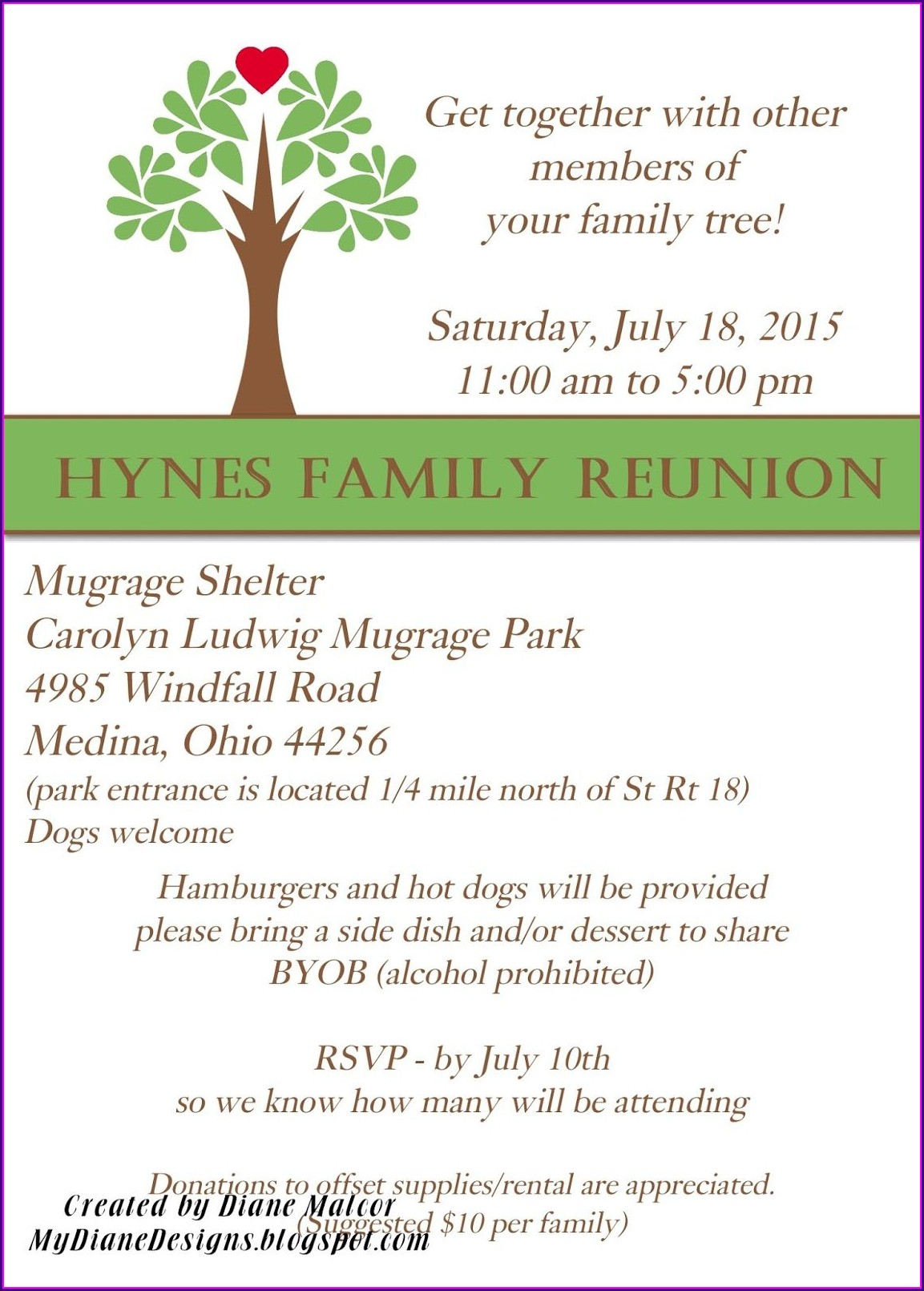 Family Reunion Potluck Invitation Wording