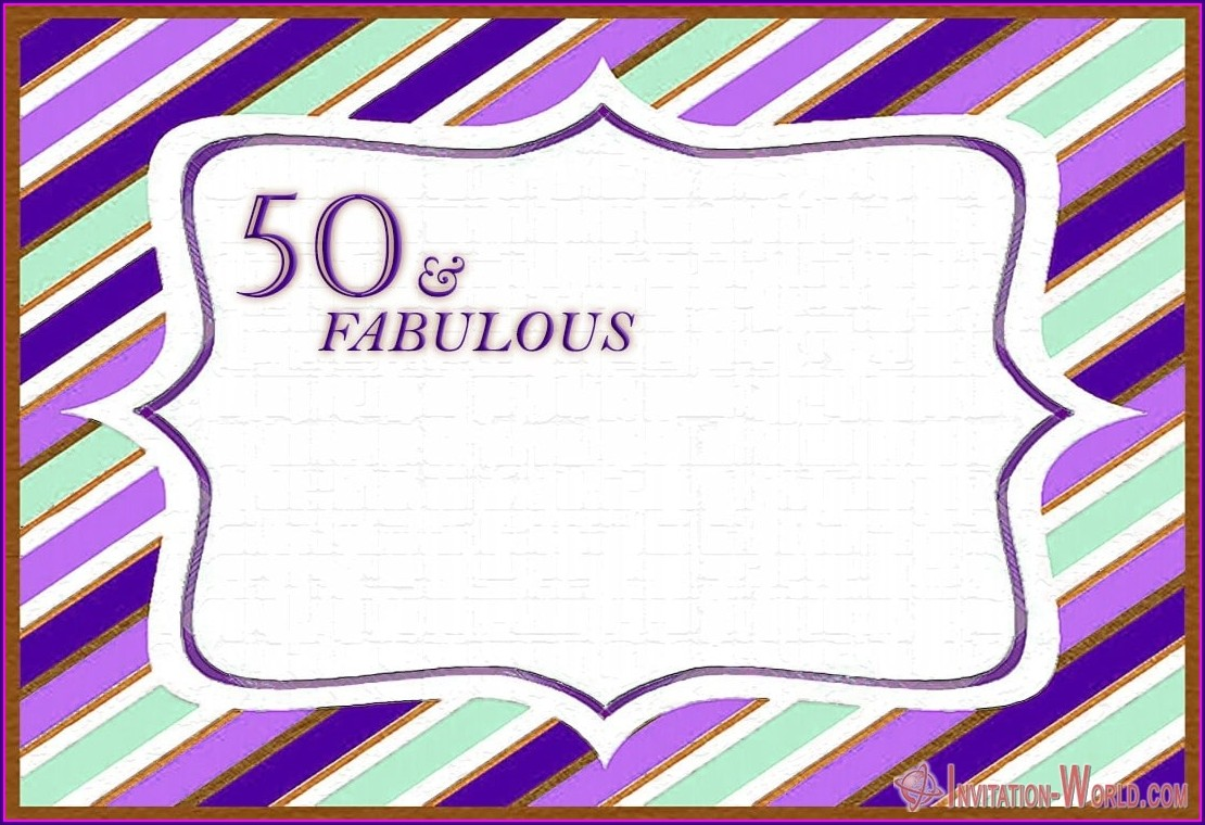 Female 50th Birthday Invitation Templates