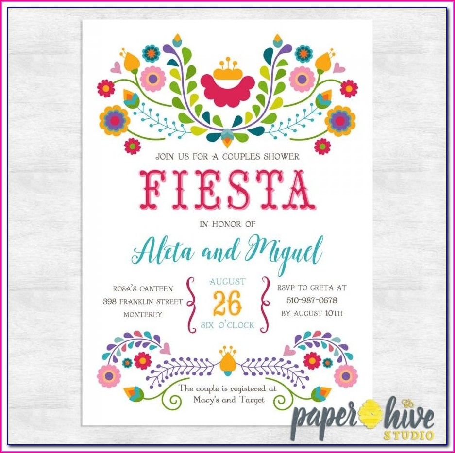 Fiesta Invitations Templates Free