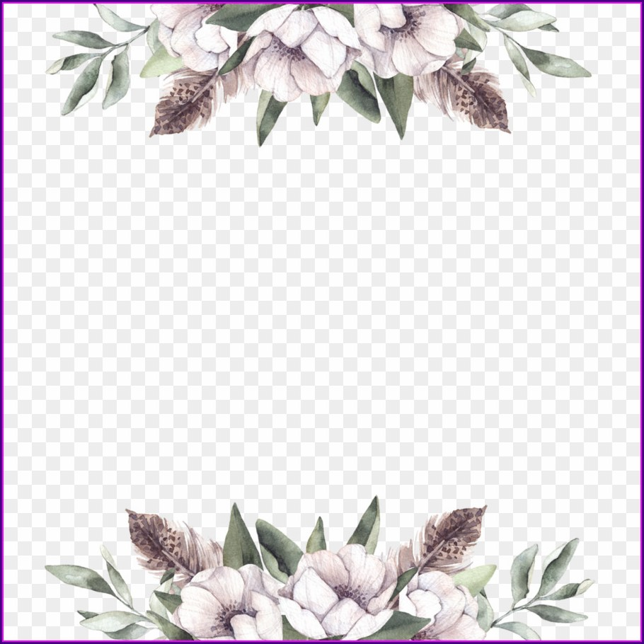 Floral Wedding Invitation Background Png