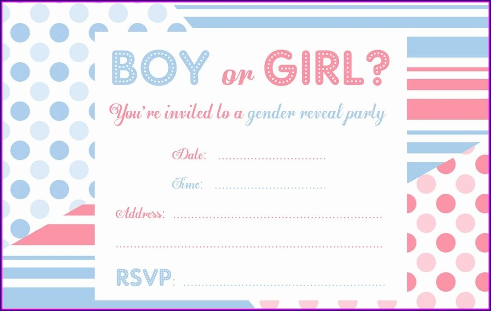 Free Gender Reveal Invitation Templates