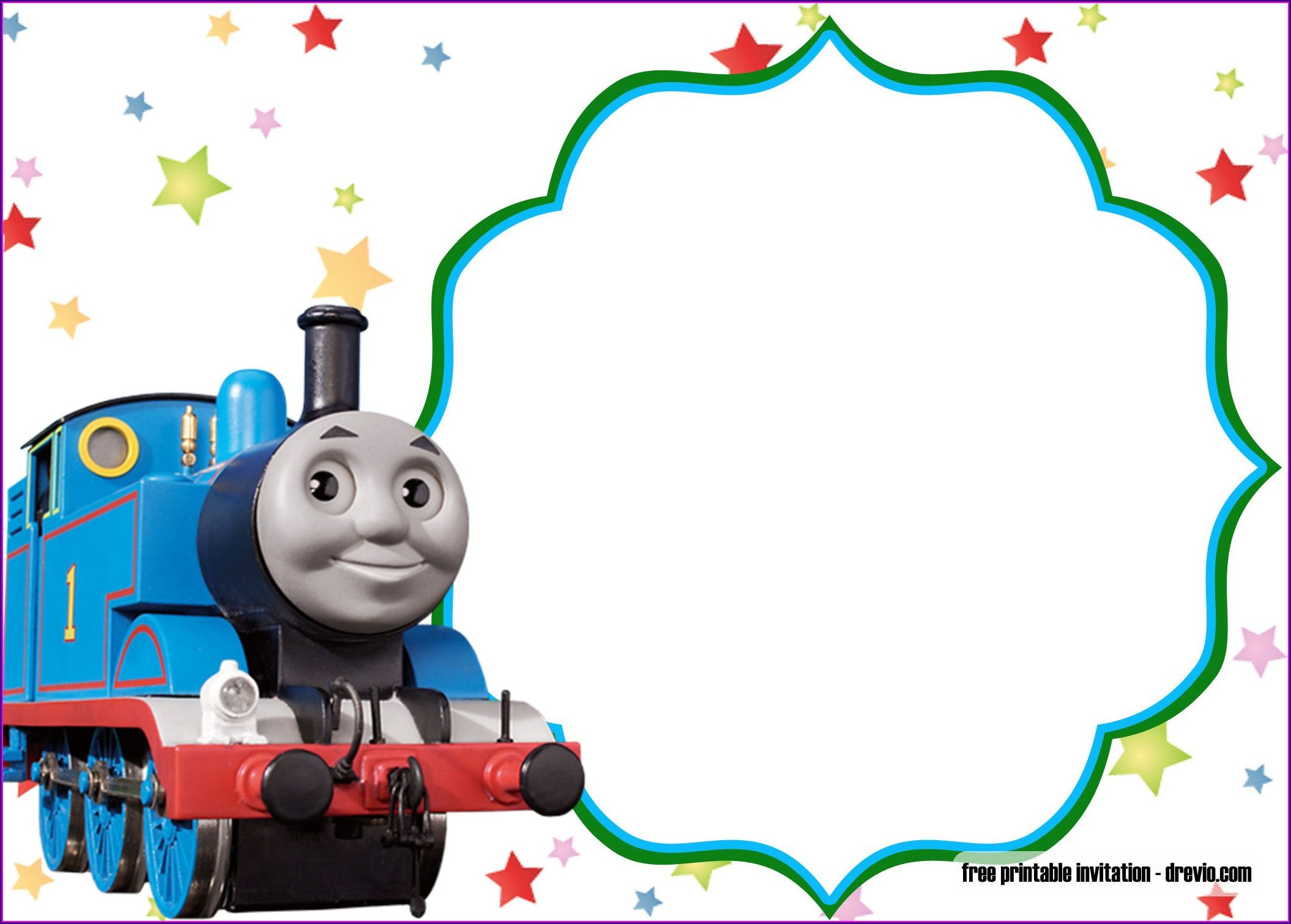 Free Printable Thomas The Train Birthday Invitations
