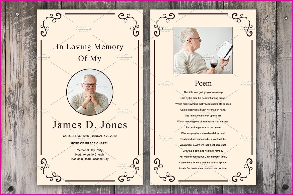 Funeral Invitation Card Template Free