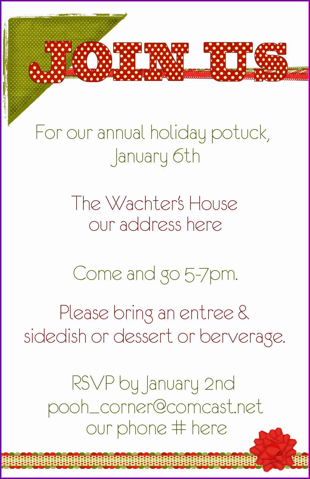 Funny Potluck Invitation Wording