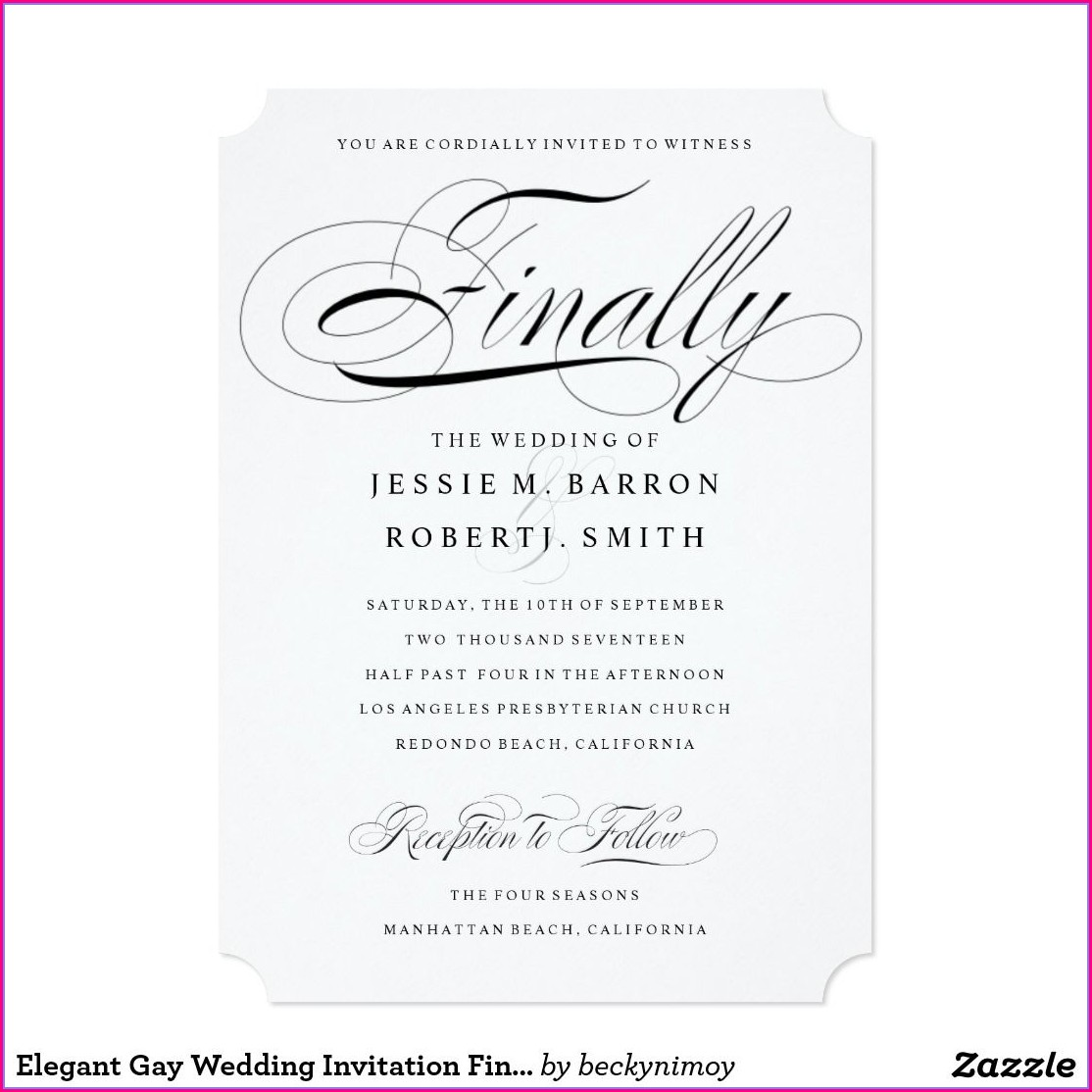 Gay Wedding Invitation Ideas