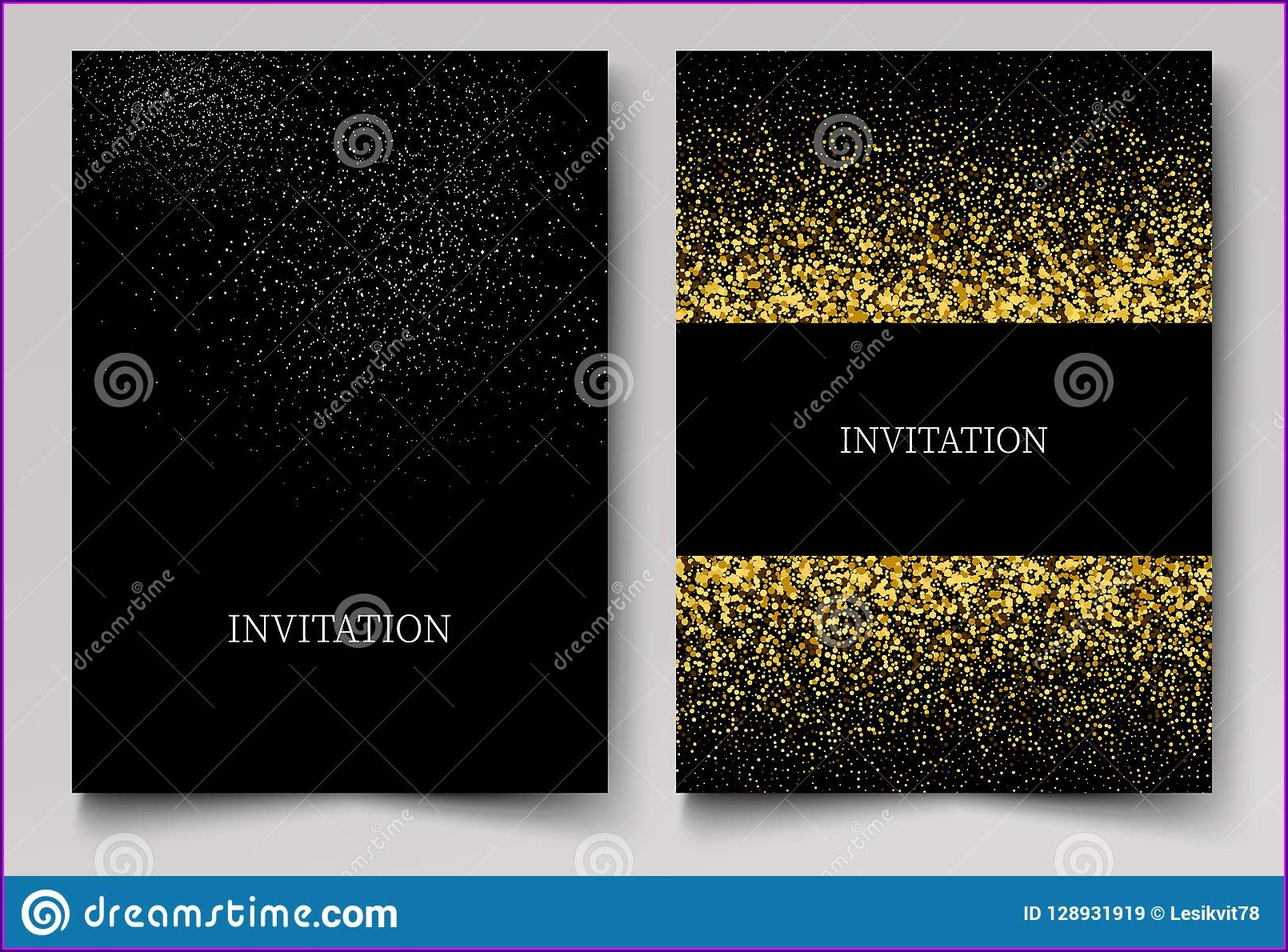 Gold Free Invitation Background Designs