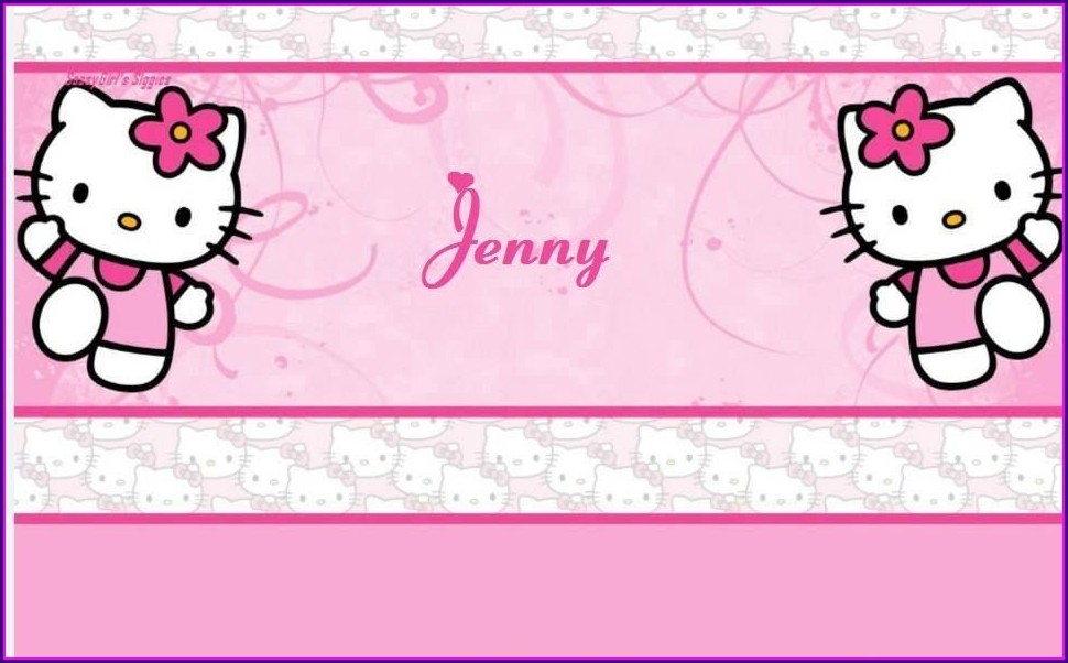 Hello Kitty Background Invitation Card