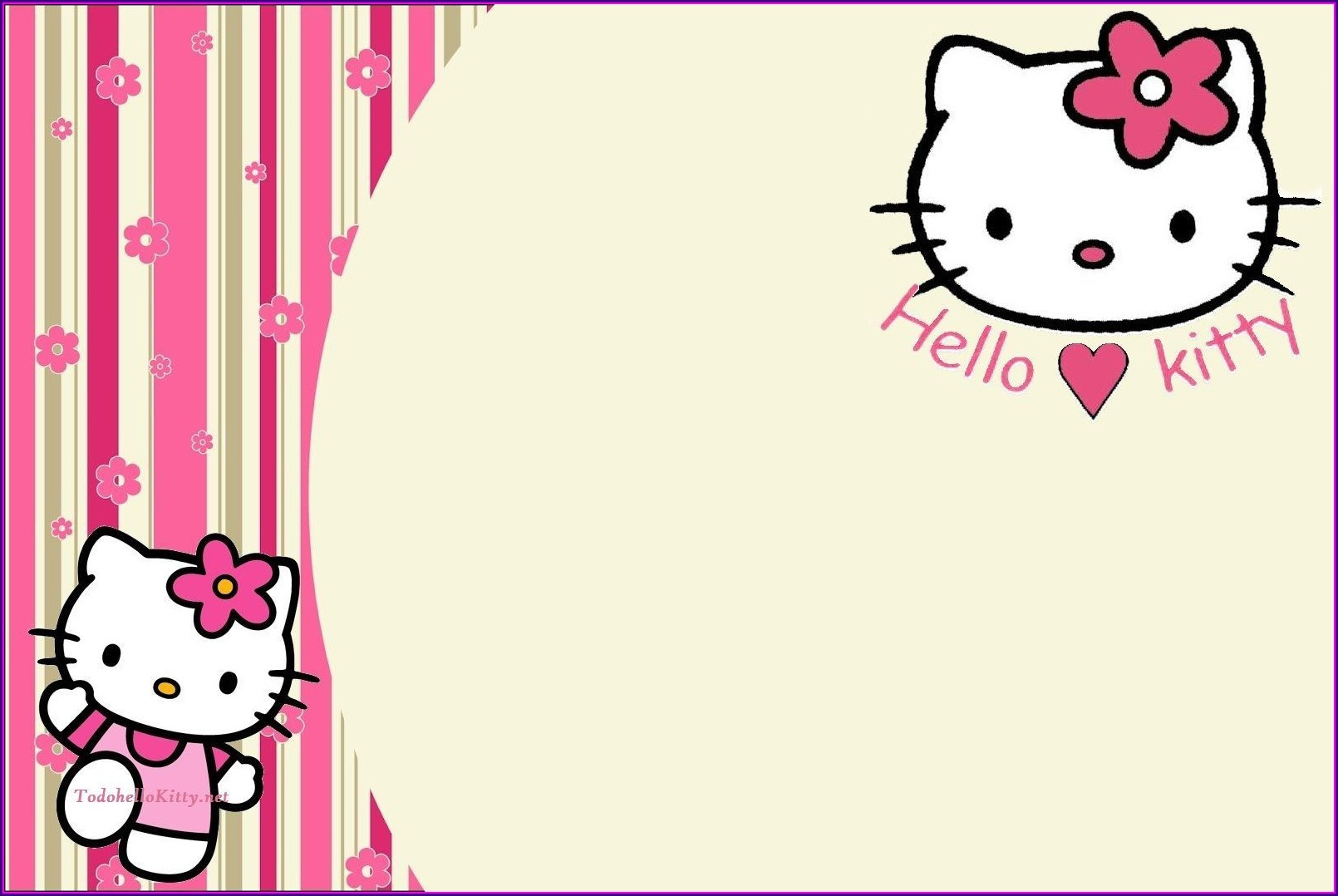 Hello Kitty Invitation Card Background