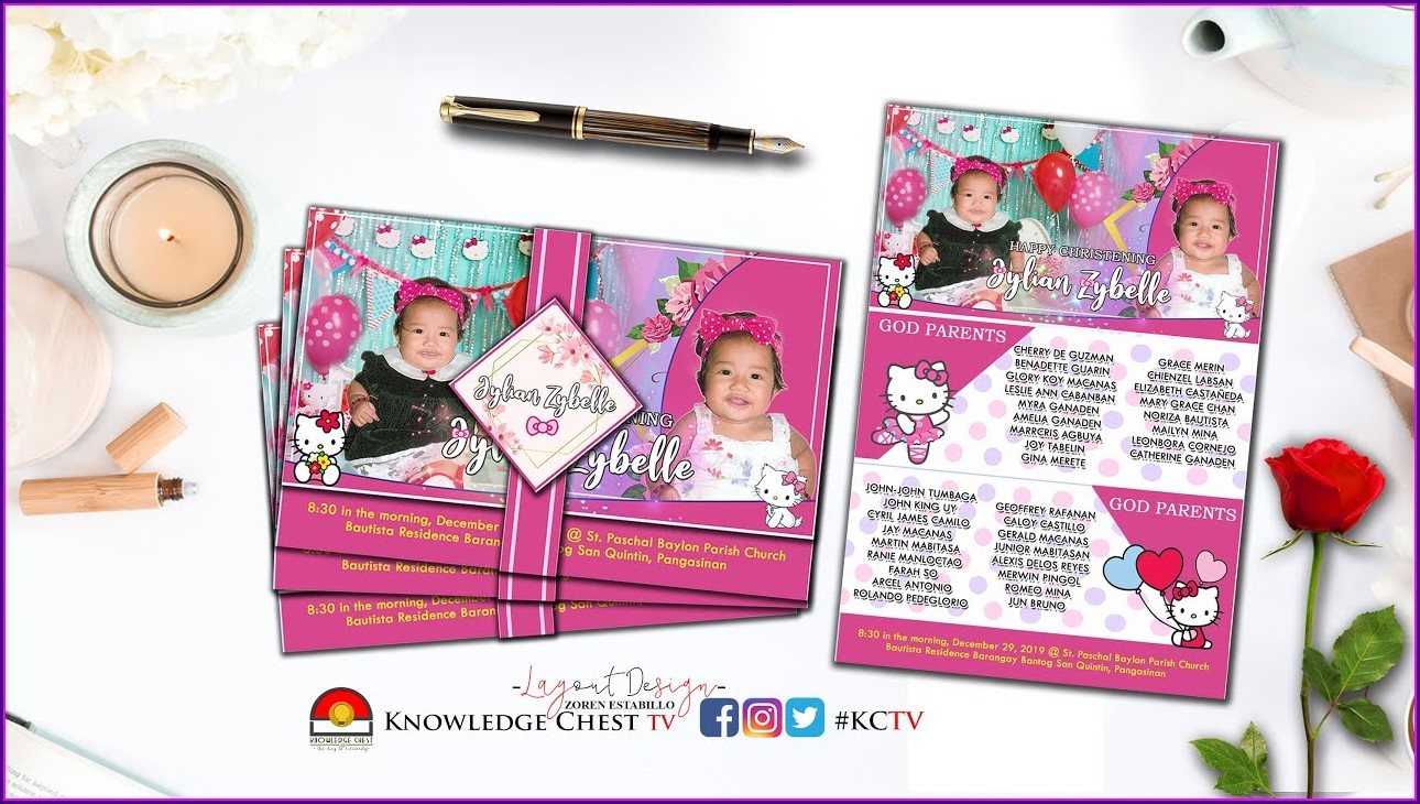 Hello Kitty Invitation Layout For Birthday