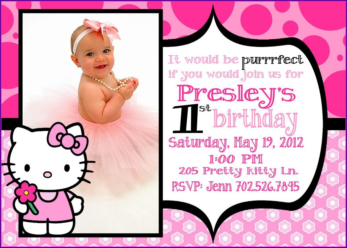 Hello Kitty Invitation Layout