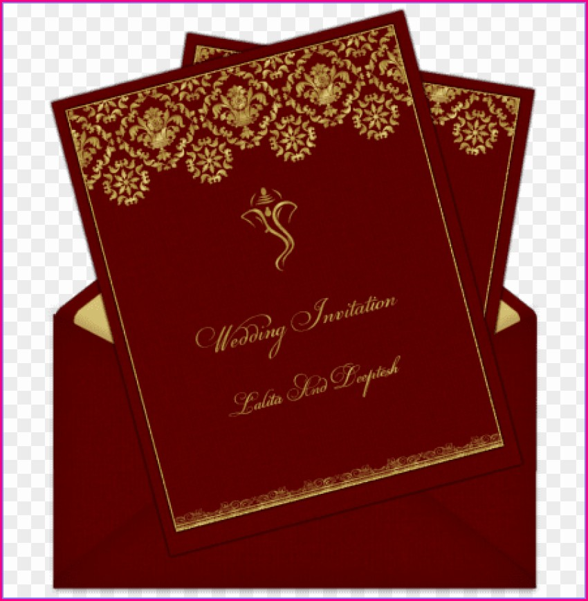 Hindu Indian Wedding Invitation Card Background Design Hd