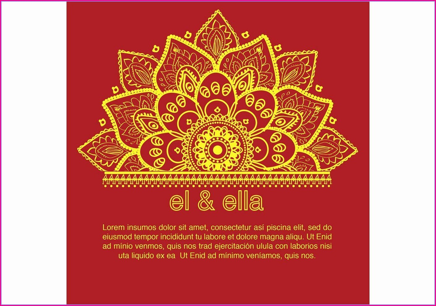 Hindu Indian Wedding Invitation Card Template