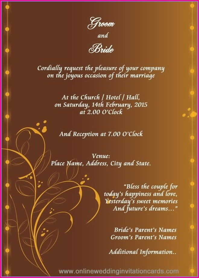 Hindu Wedding Invitation Card Background Design Hd