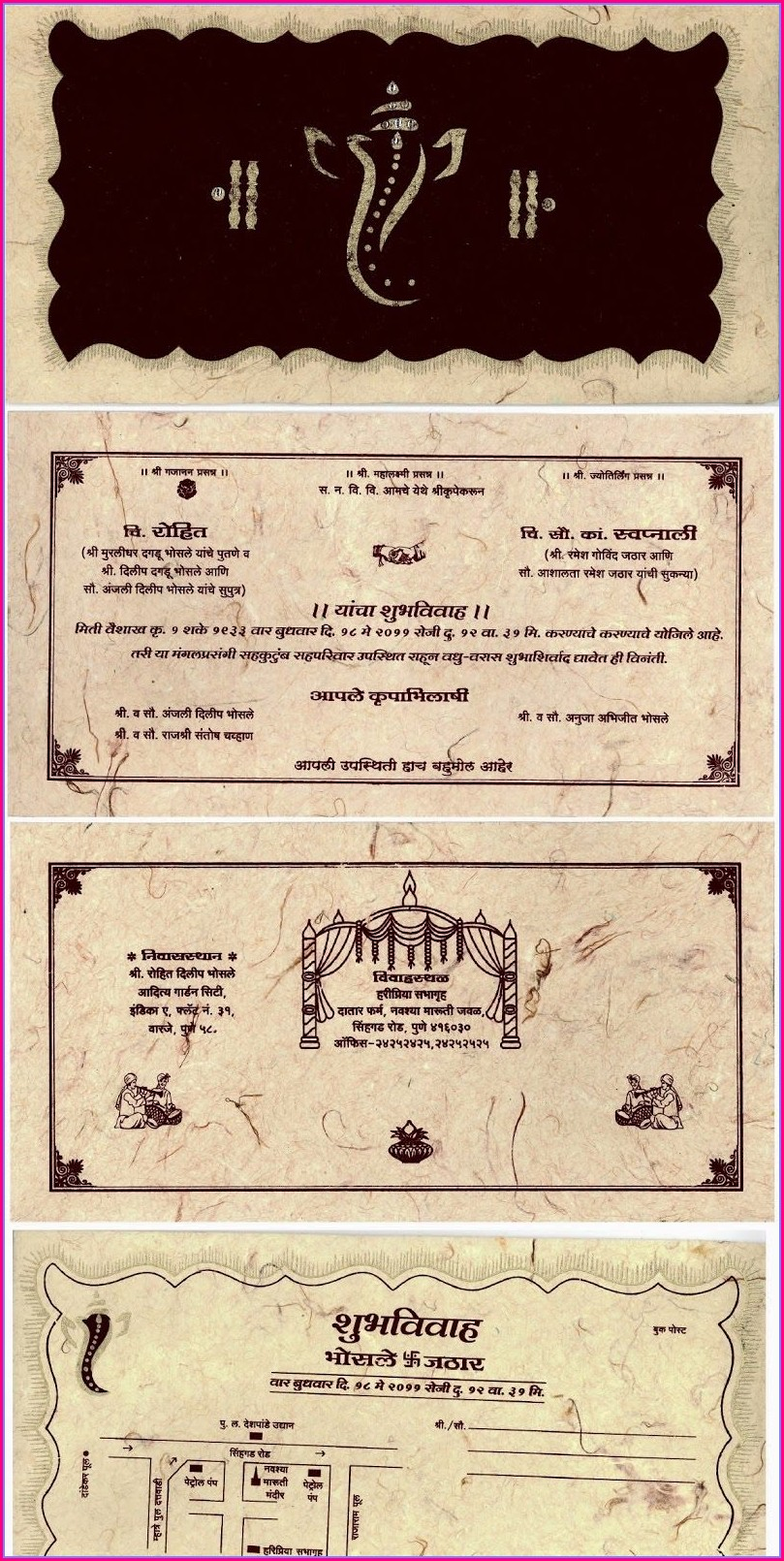 Hindu Wedding Invitation Card Format In Marathi