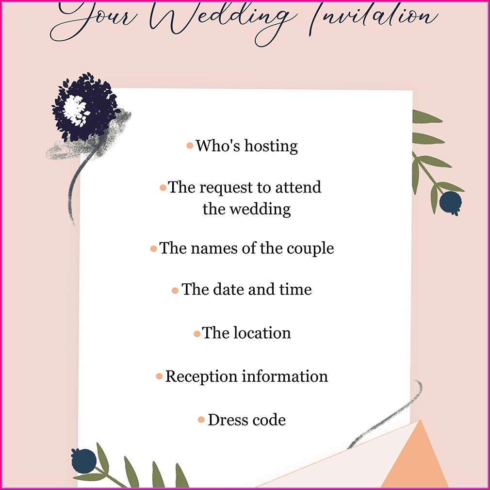 Hindu Wedding Invitation Content In English