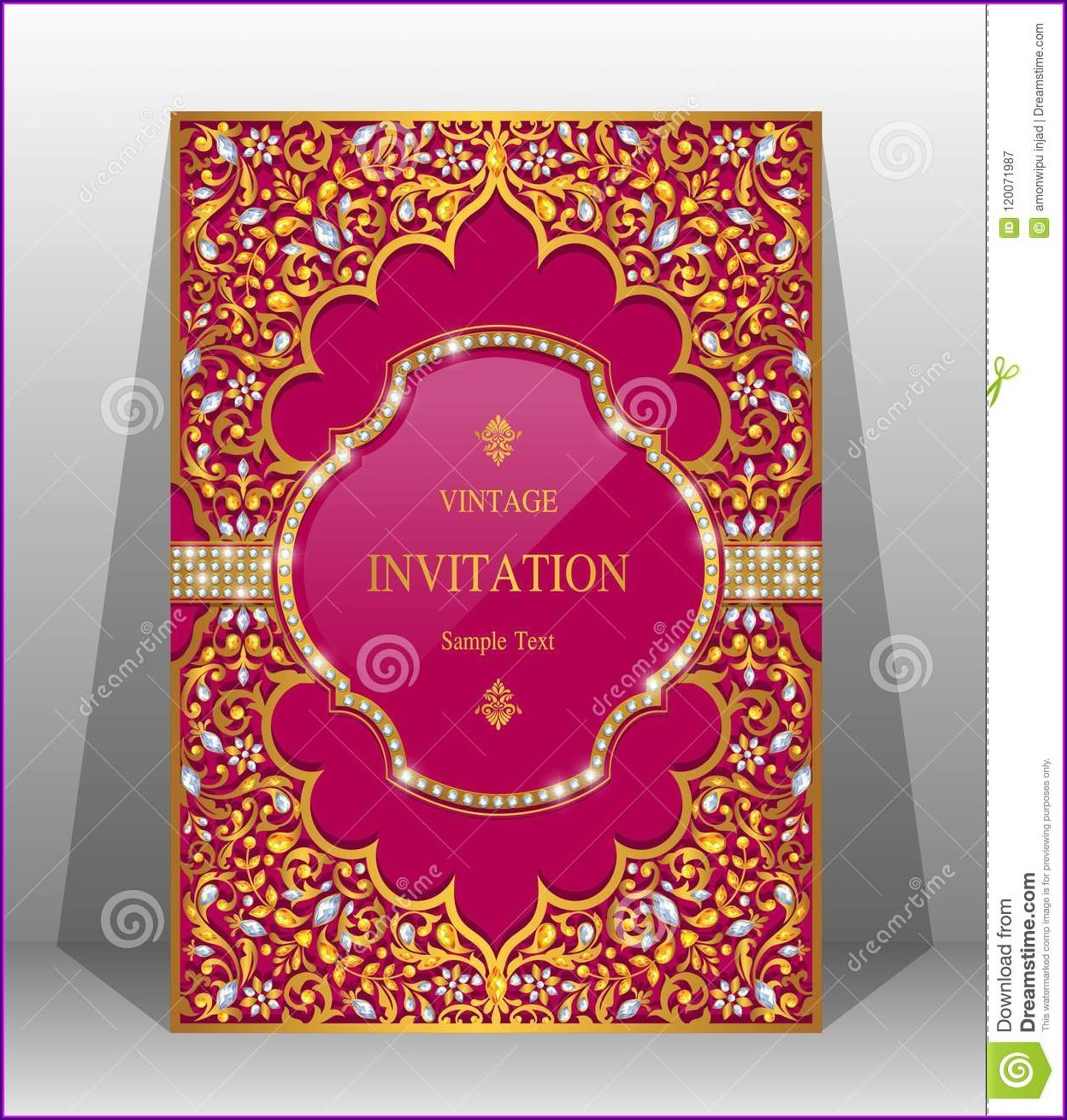 Indian Wedding Invitation Background Templates
