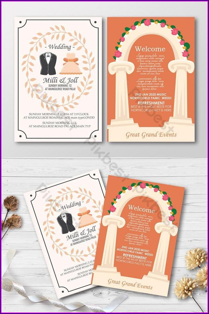 Invitation Card Design Psd Free Download