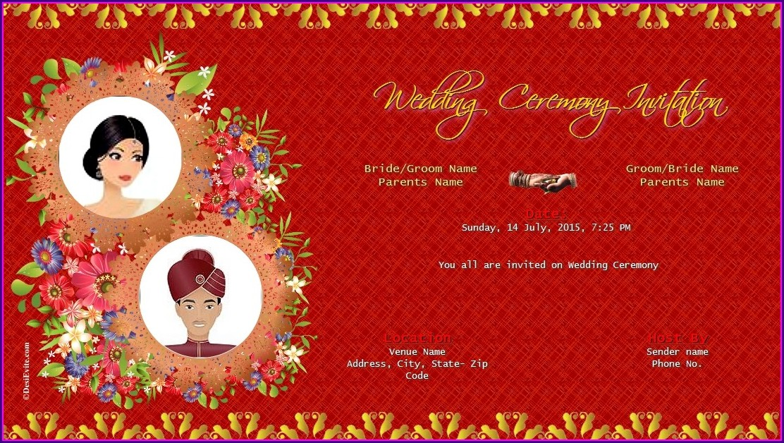 Invitation Template Wedding E Card Background