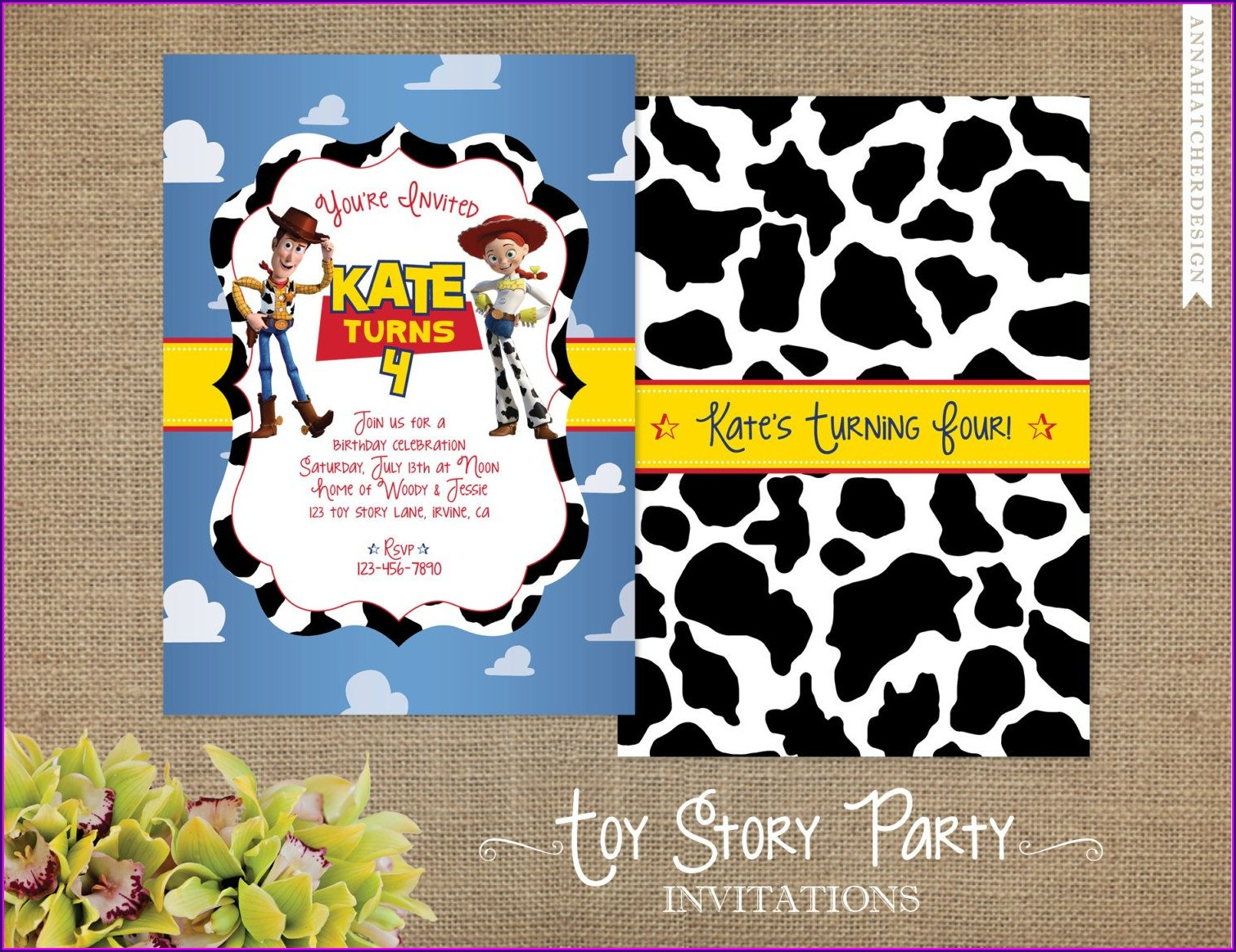 Jessie Toy Story Birthday Invitations