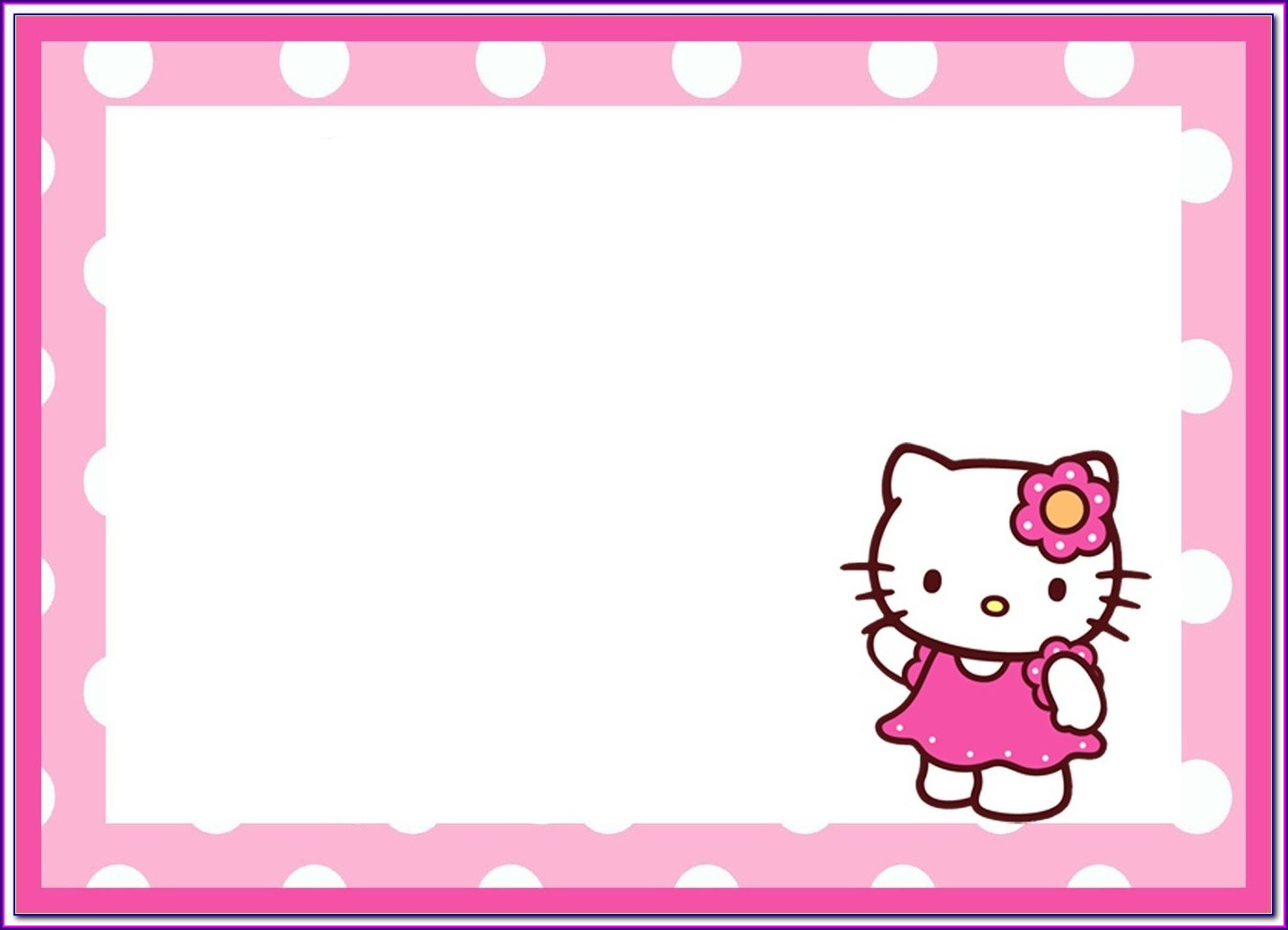 Layout Hello Kitty Invitation Template Blank