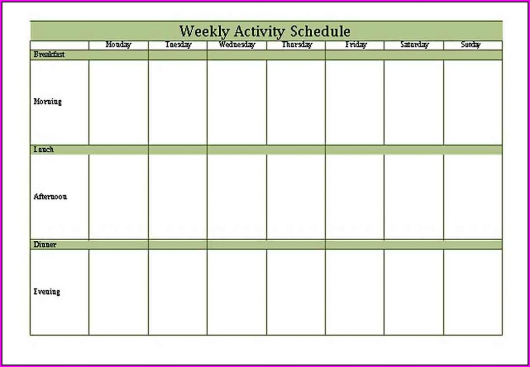 Lesson Plan Calendar Template Google