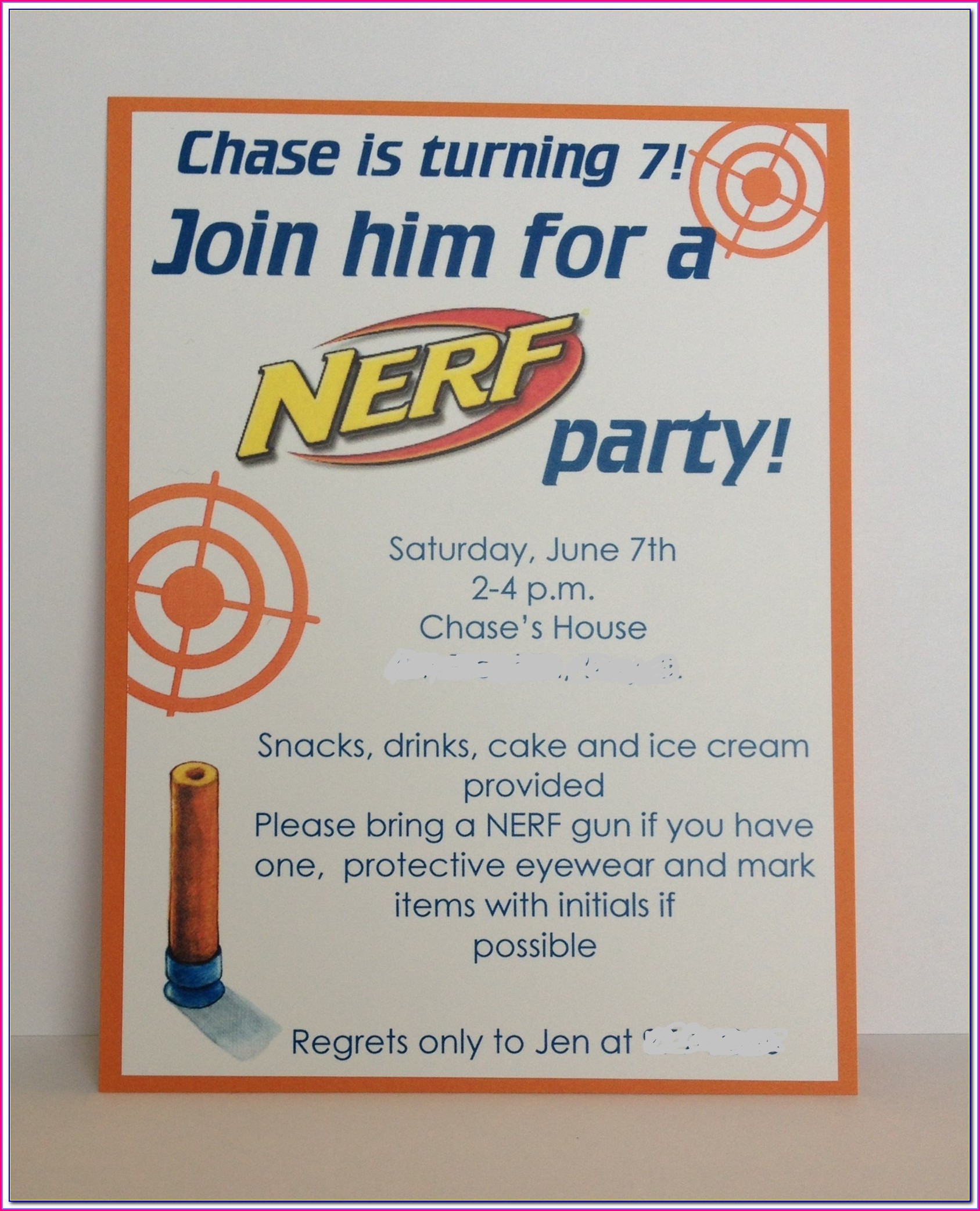 Nerf Birthday Invitations Free Pdf