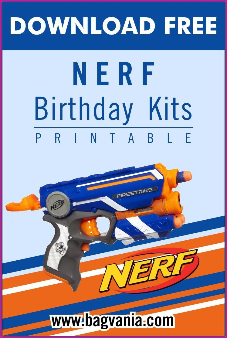 Nerf Gun Birthday Invitations