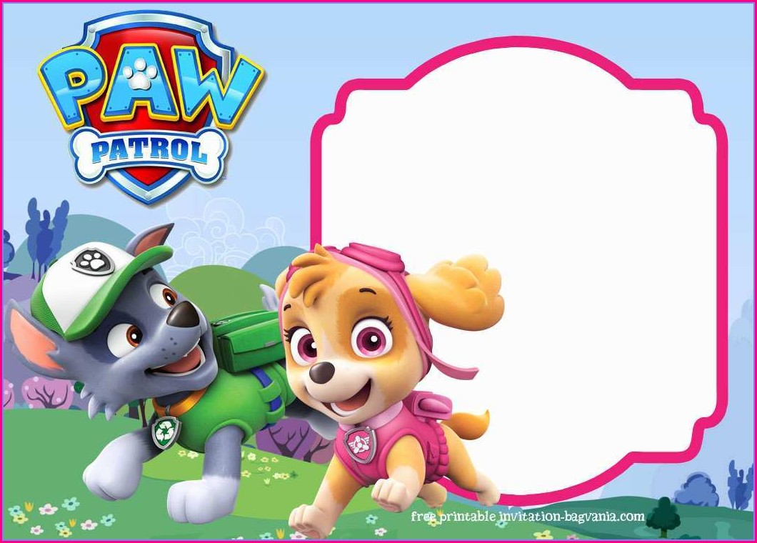 Paw Patrol Birthday Invitation Template Free