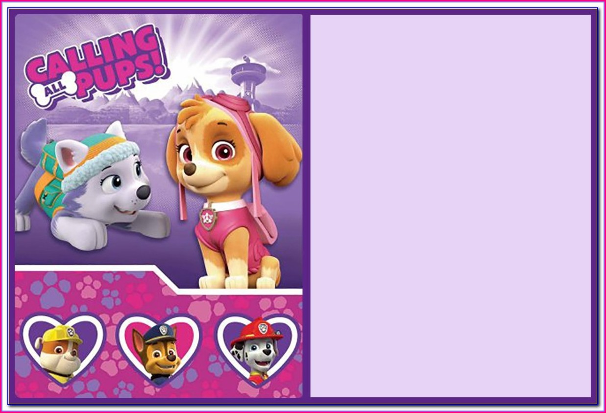 Paw Patrol Invitation Template Free