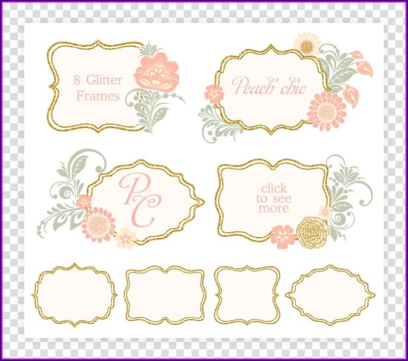 Peach Wedding Invitation Background Png