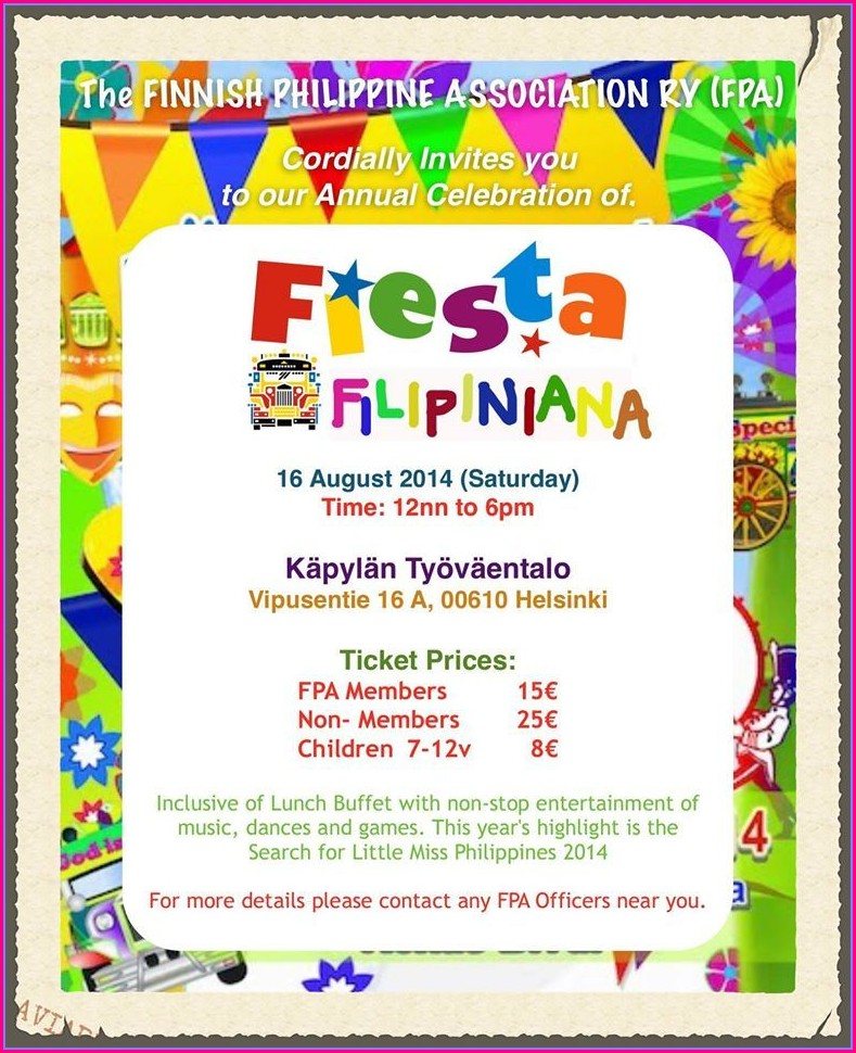 Pinoy Fiesta Invitation Template
