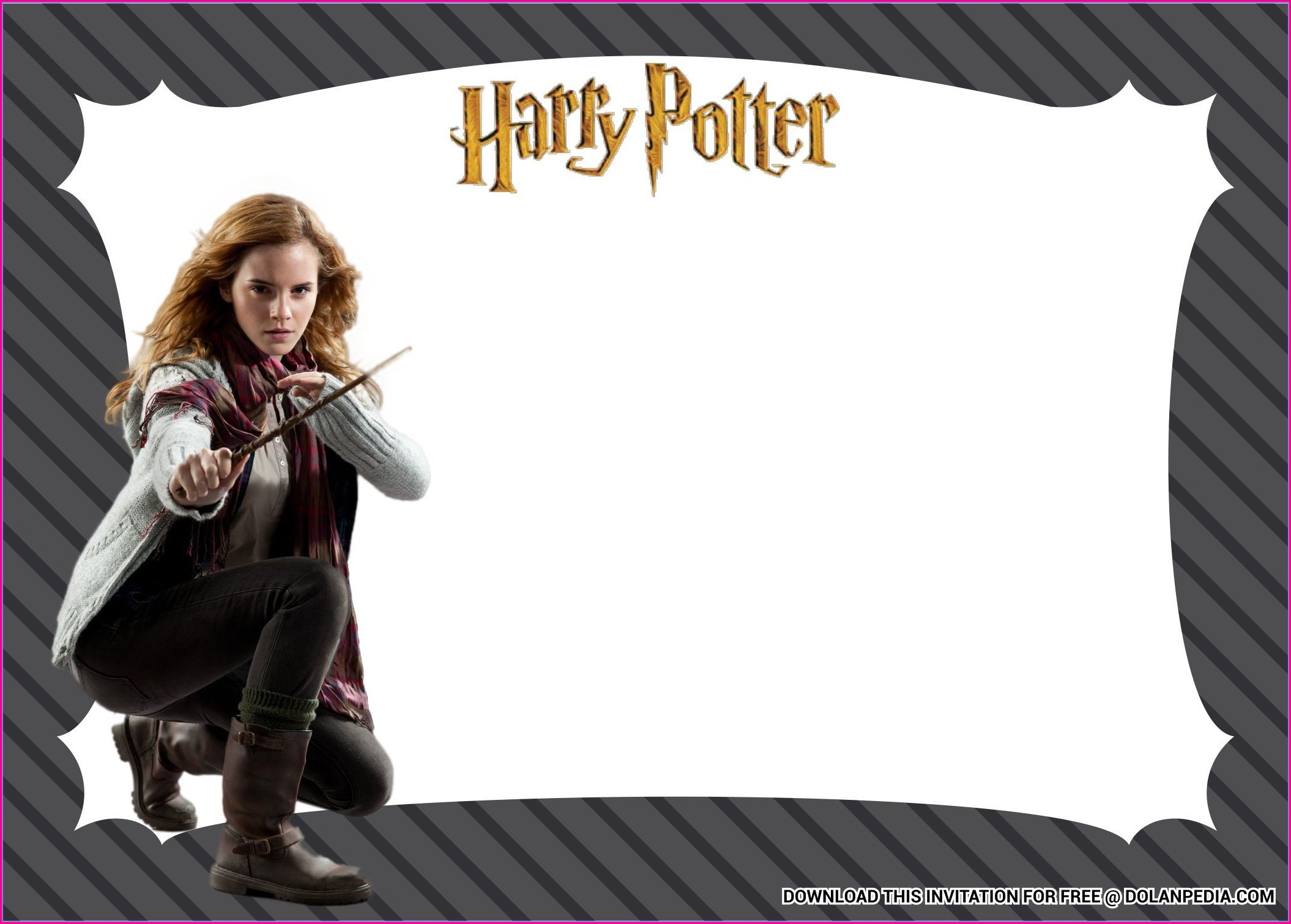 Printable Harry Potter Birthday Invitation Template