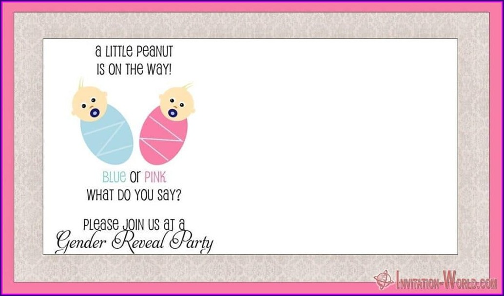 Reveal Party Invitations Background Gender Reveal Invitation Template