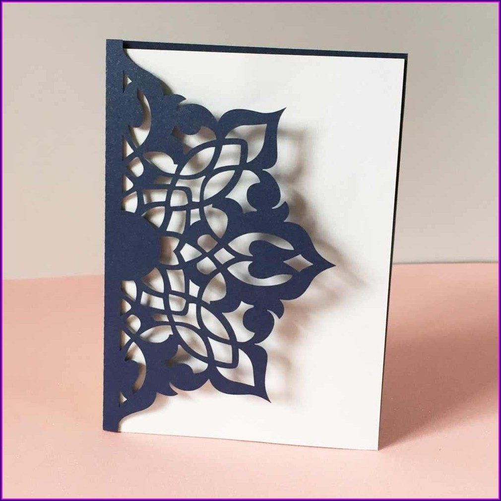 Royal Blue Wedding Invitation Cards Designs