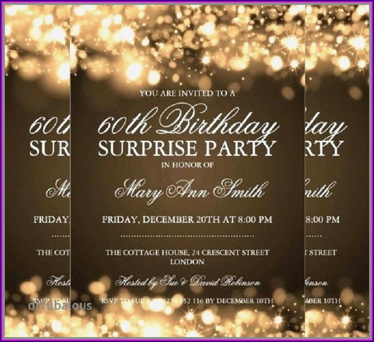Surprise 60th Birthday Invitations Uk