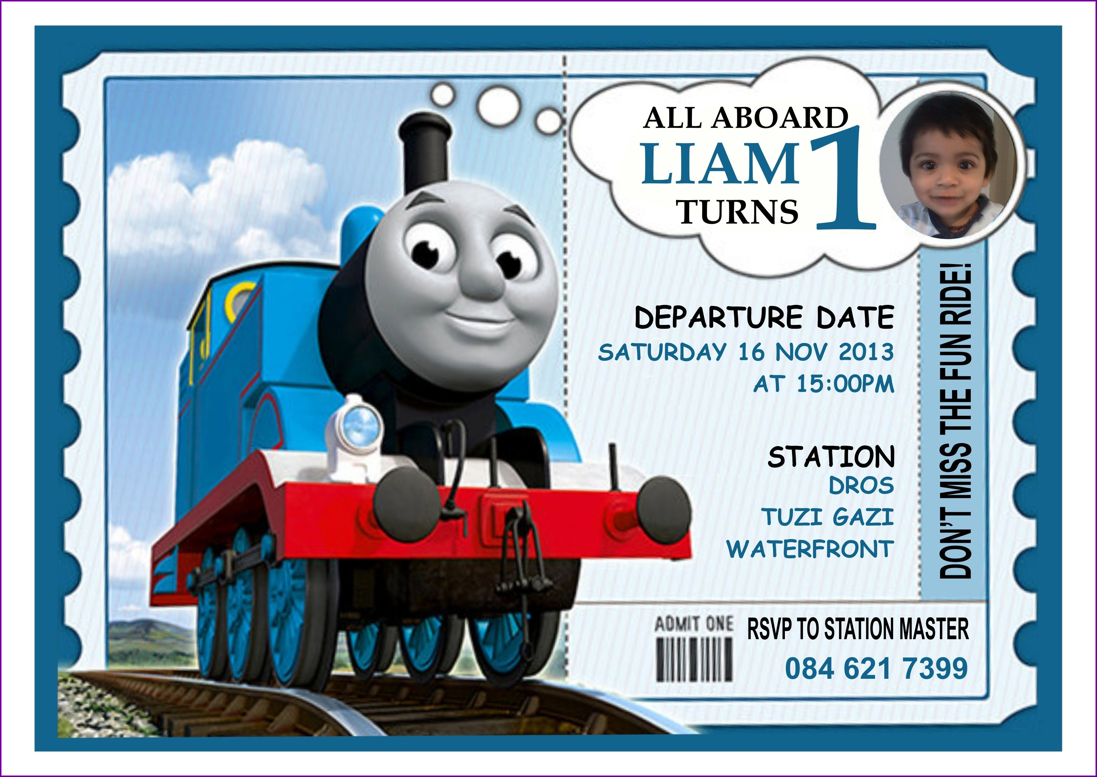 Thomas The Train Invitations Free