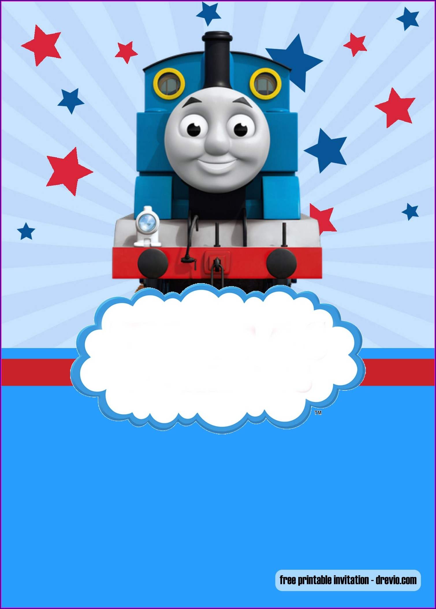 Thomas The Train Invitations