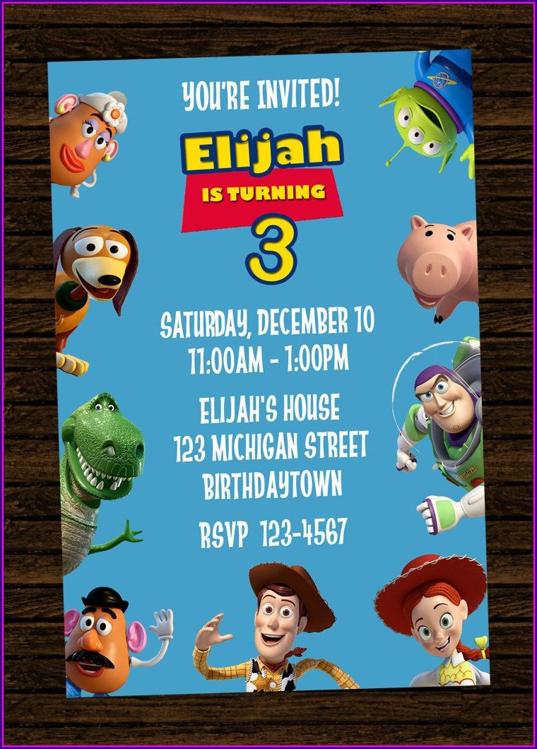 Toy Story Birthday Party Invitations