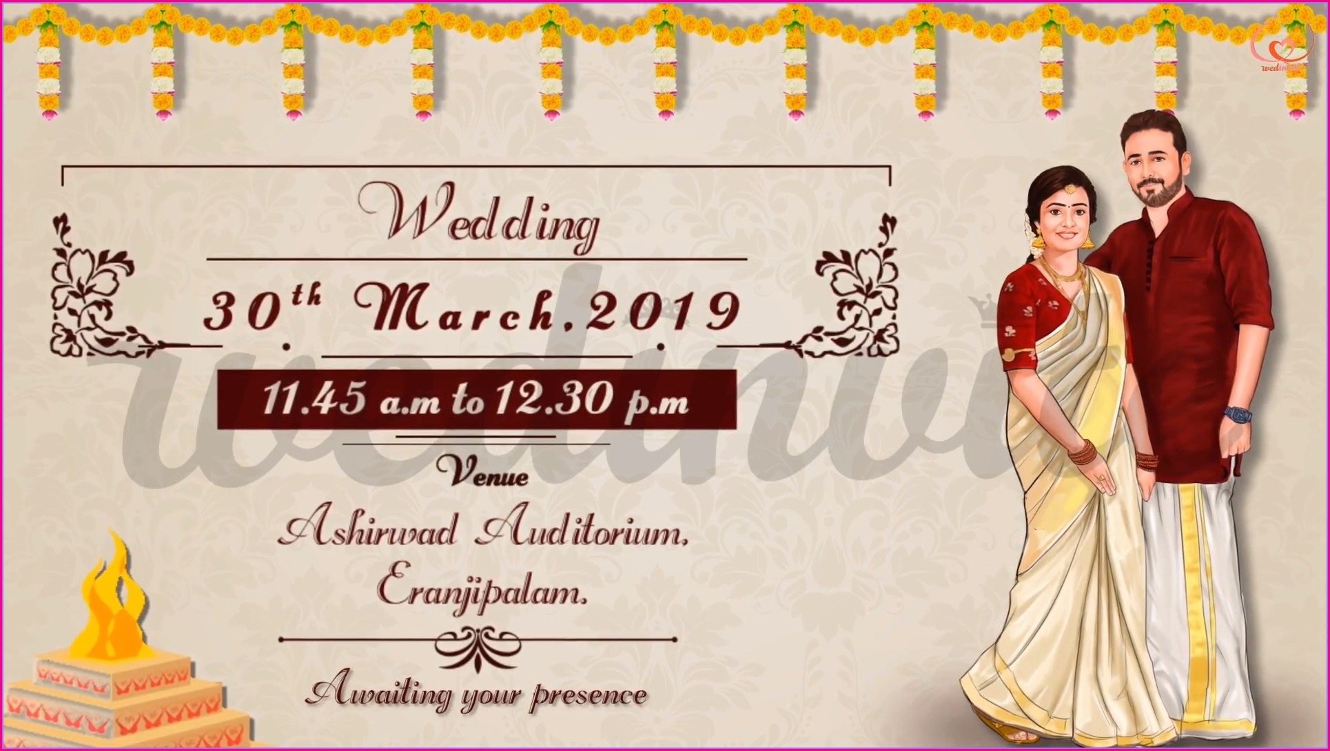 Traditional Hindu Wedding Invitation Card Design