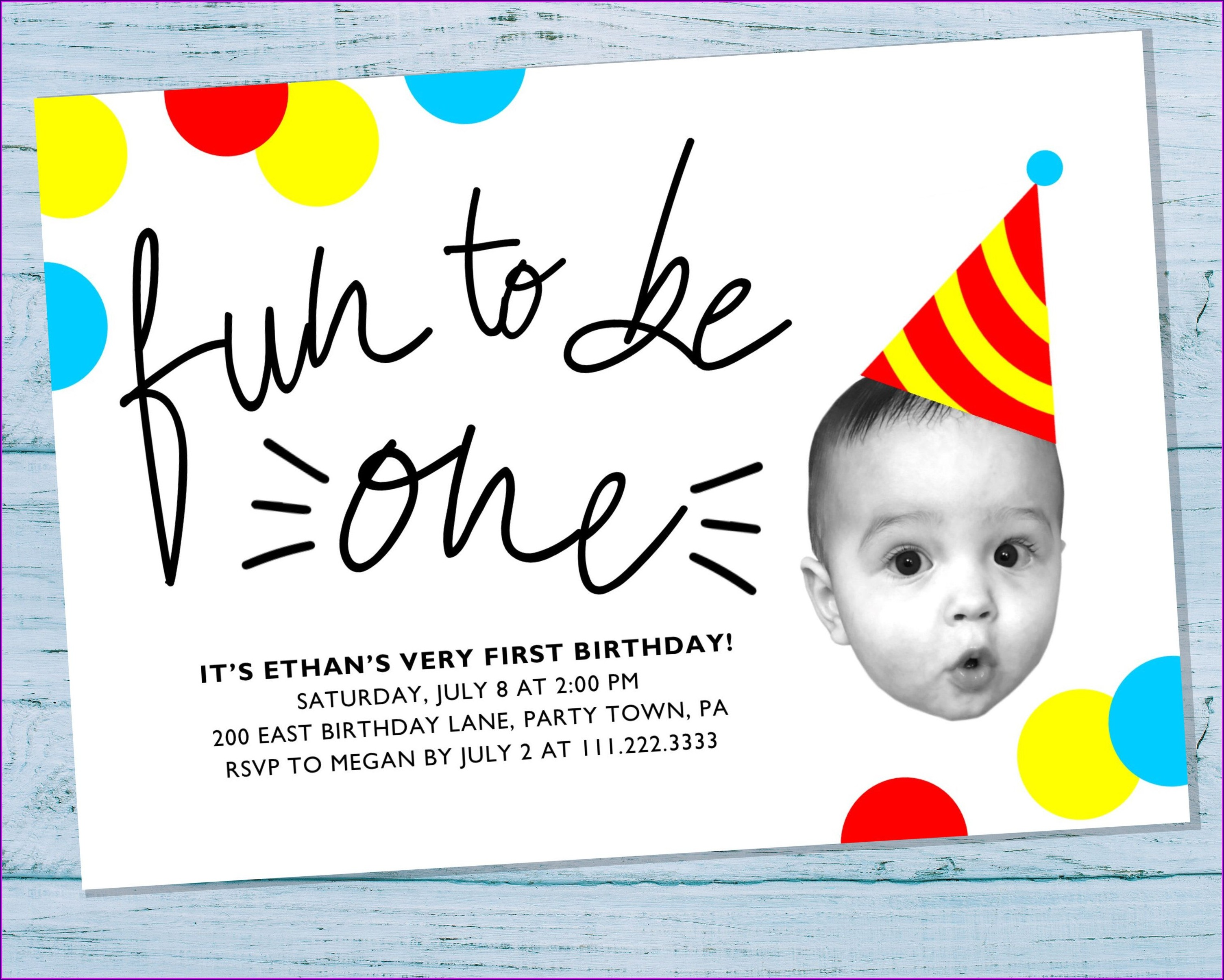Unique 1st Birthday Invitations Girl