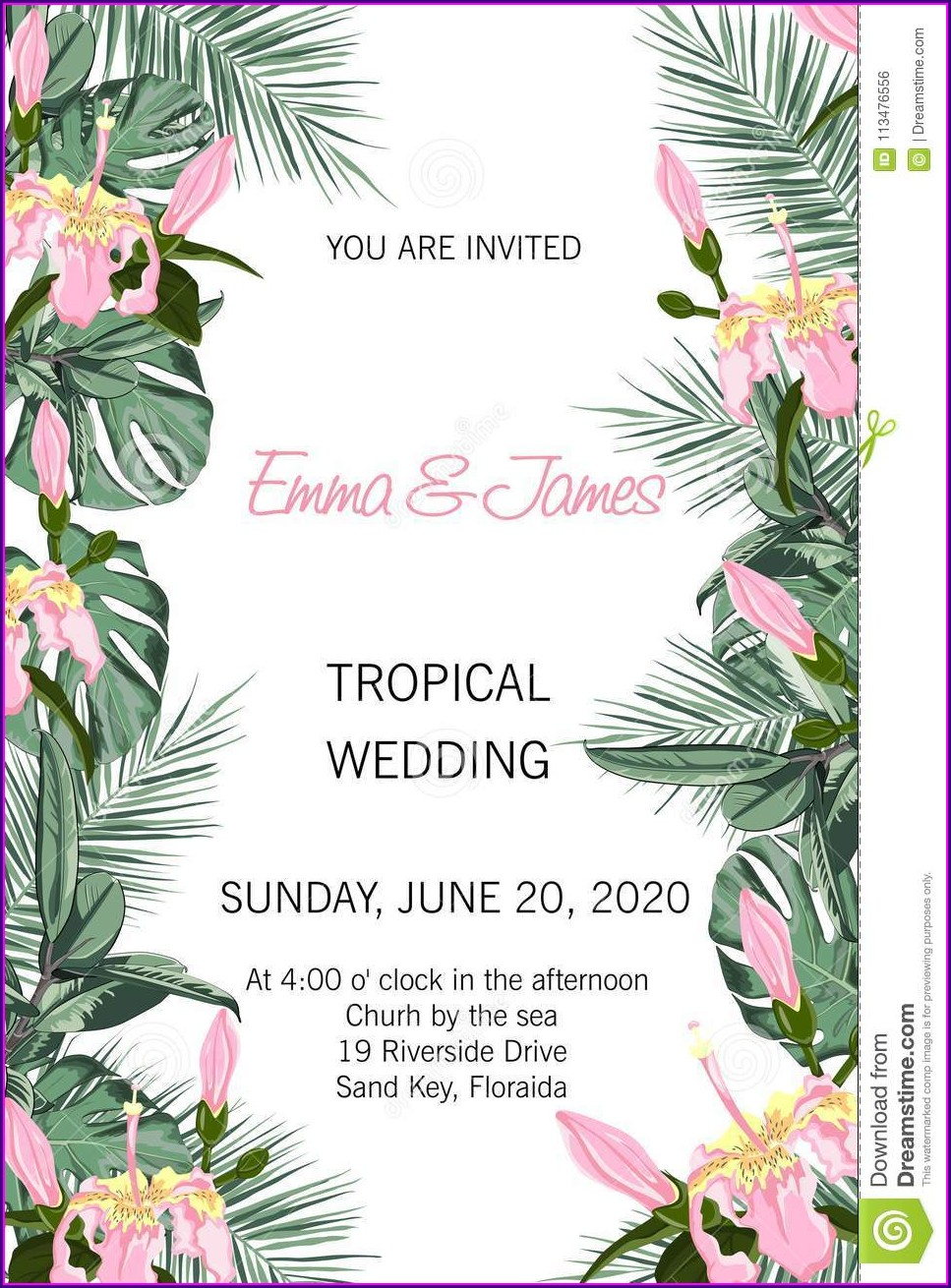 Vector Wedding Invitation Background Hd