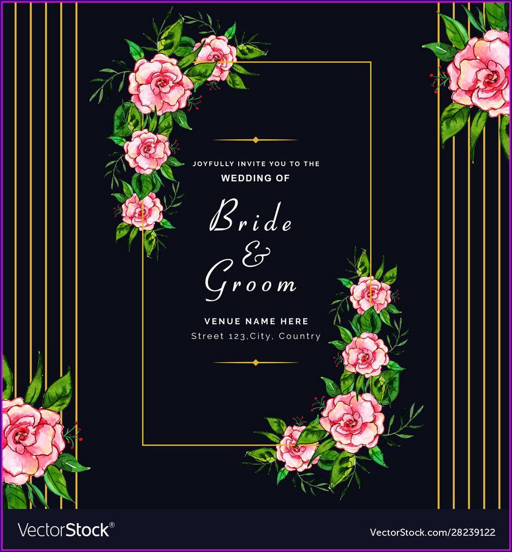 Wedding Invitation Background Hd Floral